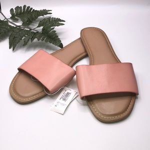 Old Navy Single Strap Slide Sandal Peachy Pink